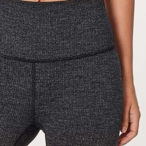 Lululemon Heathered Herringbone cropped Leggings